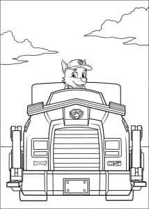Гонщик в машине