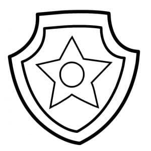 Раскраска знак щенячего патруля