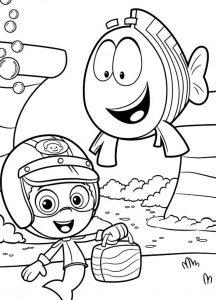 Гуппи и рыбка Группер
