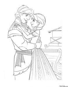 Кристофф обнимает Анну