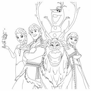 Персонажи из мультфильма Холодное Сердце