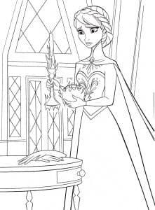Анна возле окна