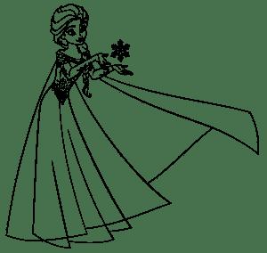 Анна из Холодного Сердца раскраска