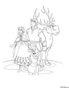 Кристофф с Эльзой и Свеном