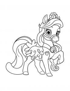 Королевская лошадка раскраска