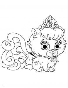 Королевская кошечка с прической