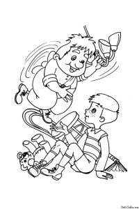 Малыш и карлсон играют