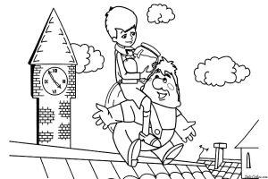 Карлсон и Малыш на крыше