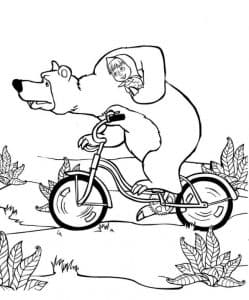 Маша и медведь на велосипеде