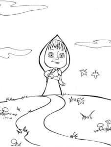 Раскраска для девочек Маша