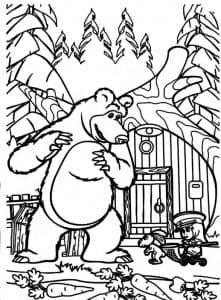 Маша и Медведь с зайцем