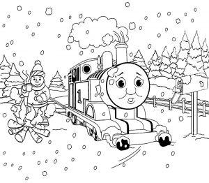 Томас раскраска