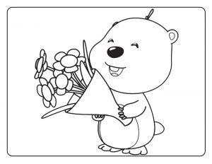 Луп с цветами