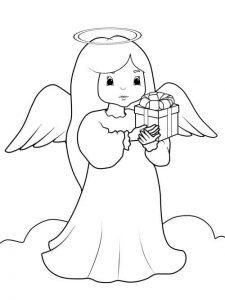 Ангел раскраска