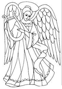 Ангел хранитель раскраски