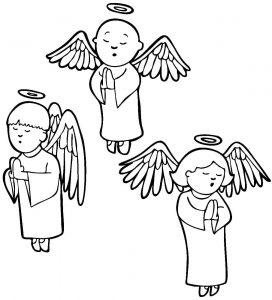 Раскраска Ангелы