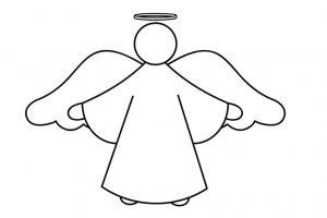 Силуэт ангела хранителя