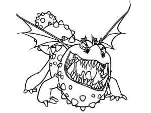 Злой дракон раскраска