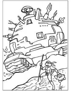 Черепашки ниндзя и огромная машина