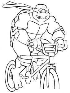 Черепашка ниндзя на велосипеде