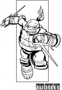 Рафаель Раскраска с мечами