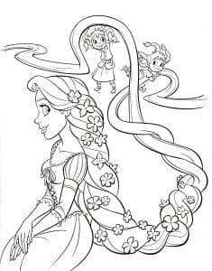 Принцесса с длинными волосами