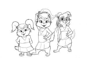 Раскраска Элвин и Бурундуки