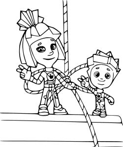 Симка и Нолик раскраска для детей