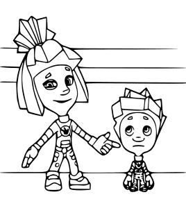 Симка и Нолик из фиксиков