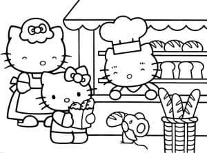 Хелло Китти в булочной