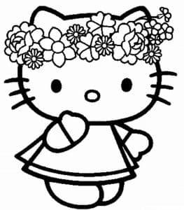 Хелло Китти в веночке