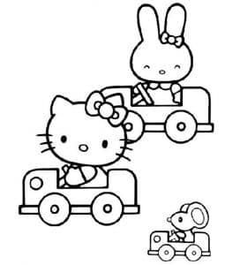 Хелло Китти и Миффи на машине