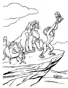 Король Лев раскраска