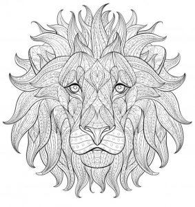 Раскраска Лев