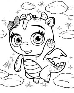 Маленькая дракониха Флер