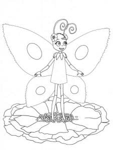 Бабочка из Лунтика на цветке