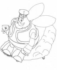 Дед Шер пьет чай