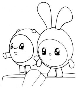 Барашик и Крошик раскраска детская
