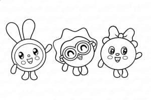 Малышарики раскраска для малышей