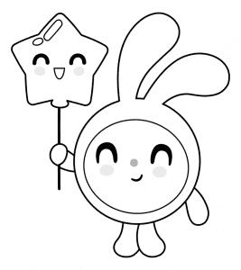 Крошик держит звездочку