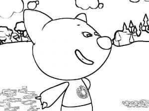Лисичка из мультфильма мимимишки