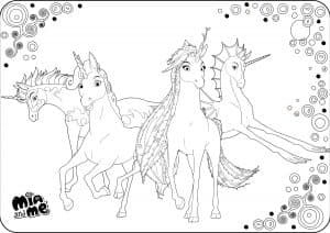 Раскраска Единороги
