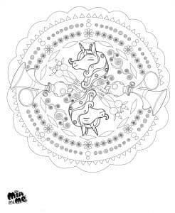Раскраска Единорог