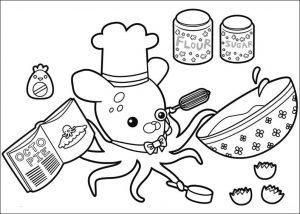 Раскраска профессор Иклинг готовит