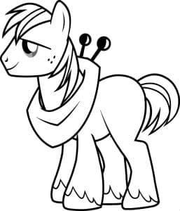 Пони с шарфом
