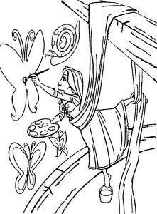 Рапунцель рисует