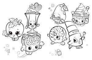 Шопкинс раскраска для детей