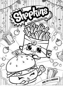 Шопкинс картошка фри и бургер