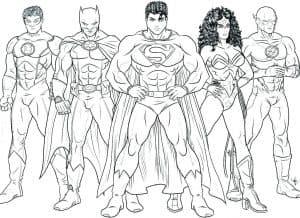 Раскраска супергерои
