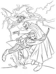 Раскраска Росомаха